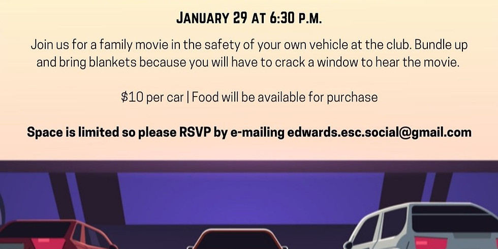 Drive In Movie at the Club!