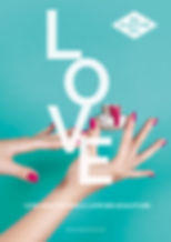 Turquoise LOVE White poster for download