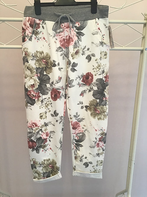 ROSE FLORAL JOGGERS