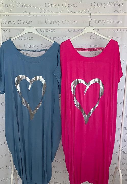 SILVER HEART TUNIC/DRESS