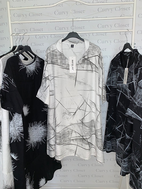 NESLAY ABSTRACT DESIGN TUNIC DRESS