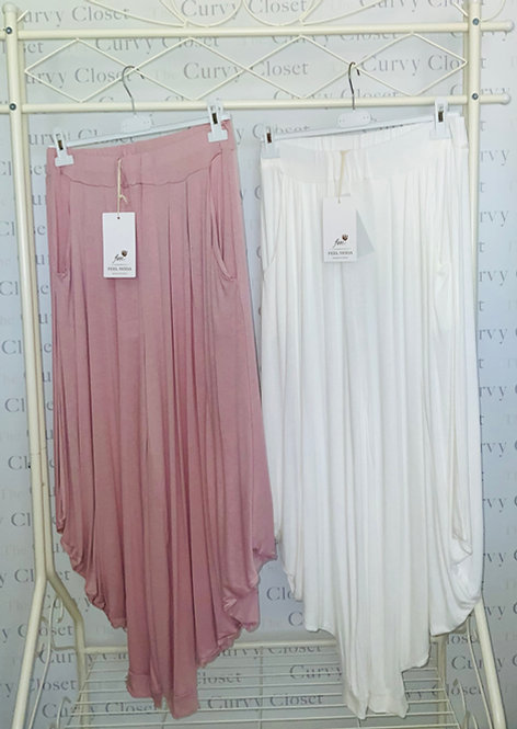 HAREM TROUSERS -WHITE ONLY