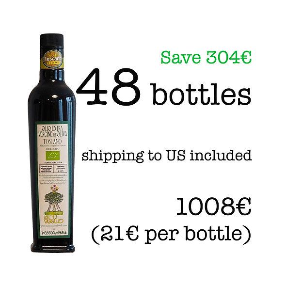 48 bottles of Extra Virgin Olive Oil, 2020 harvest (shipping inclusive) Nov '20
