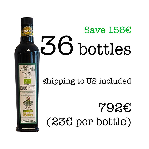 36 bottles of Extra Virgin Olive Oil, 2020 harvest (shipping inclusive) Nov '20