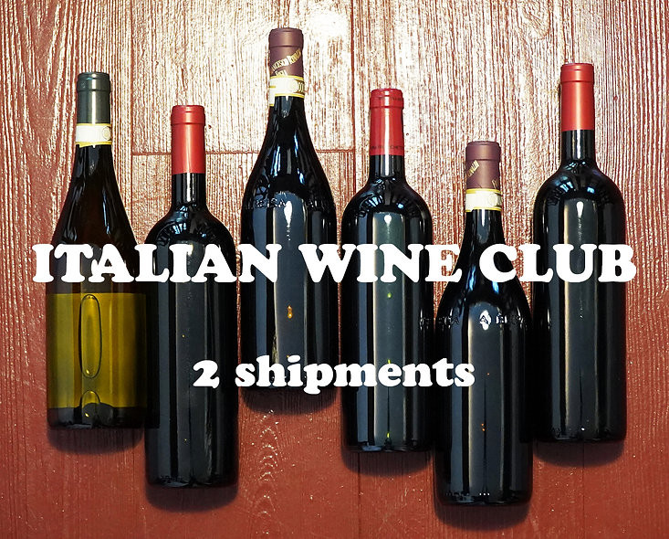DOUBLE Italian Wine Club, 2 shipments of 2 x 12 bottles (24 total)