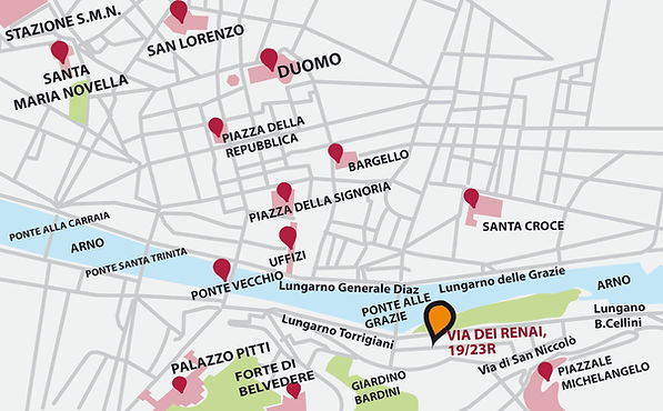 Map of the Grape Tours office in Florence