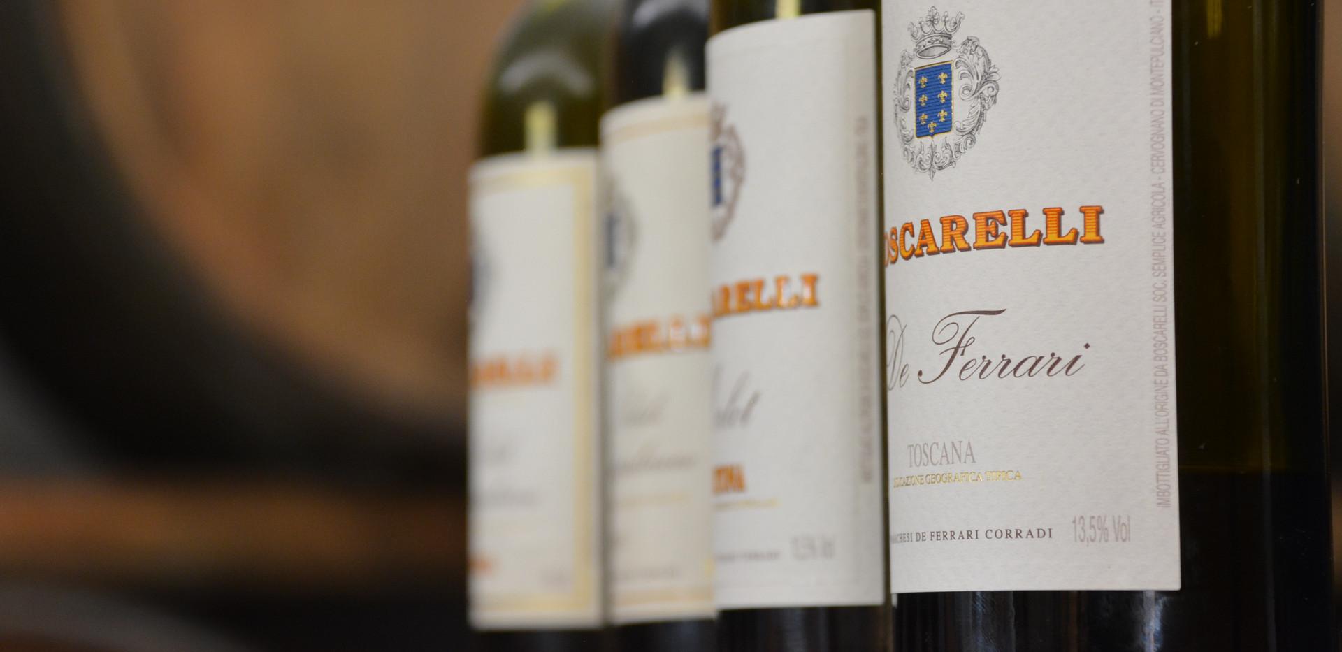 Wonderful lineup of Montepulciano wines