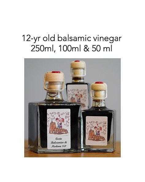 1, small, 1 medium & 1 large bottles of 12 yrs old Balsamic Vinegar of Modena