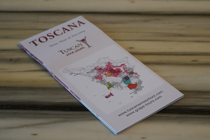 Tuscany wine map