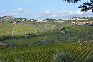 Paysage de Toscane et vignobles du Chianti