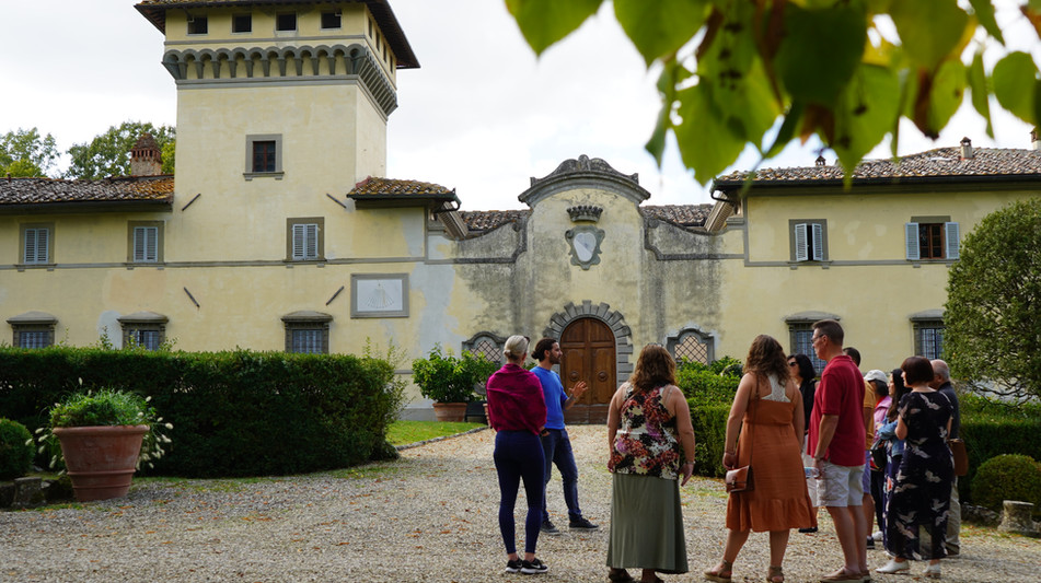 Super Chianti group at one of the Grape wineries