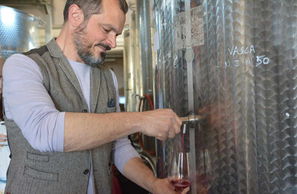 Taste wines from the tank!