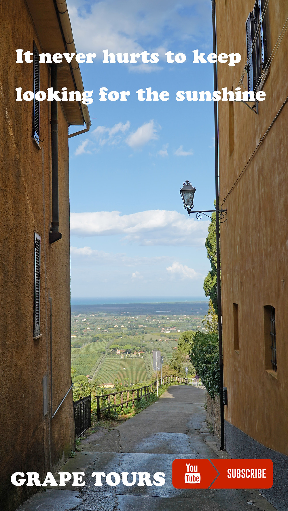 View from Castagneto Carducci (Bolgheri).