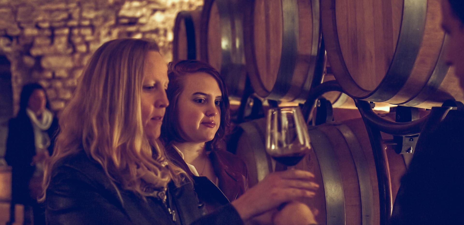 Tasting wines