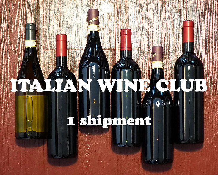 DOUBLE - Italian Wine Club, 1 shipment of 2 x 6 bottles (total 12)