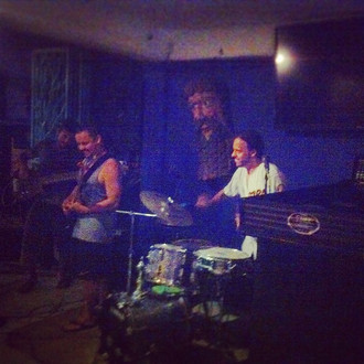 Our set at the biker bar in Cancun