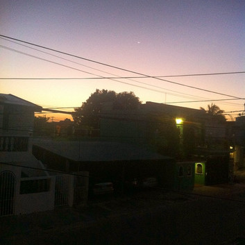 Sunsets in Cancun neighborhoods