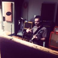 Victor recording in the studio