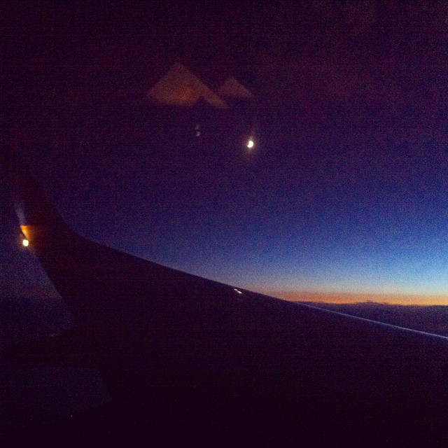 Peaceful flight back to Canada
