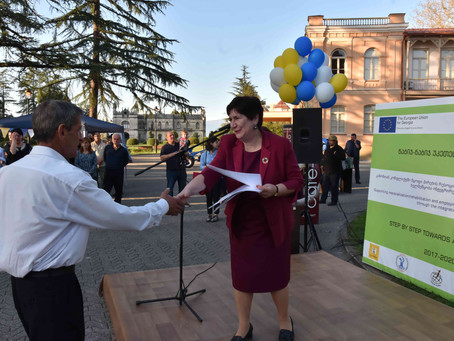 The Awarding of the Beneficiaries, Winners of Material Support Competition in Zugdidi
