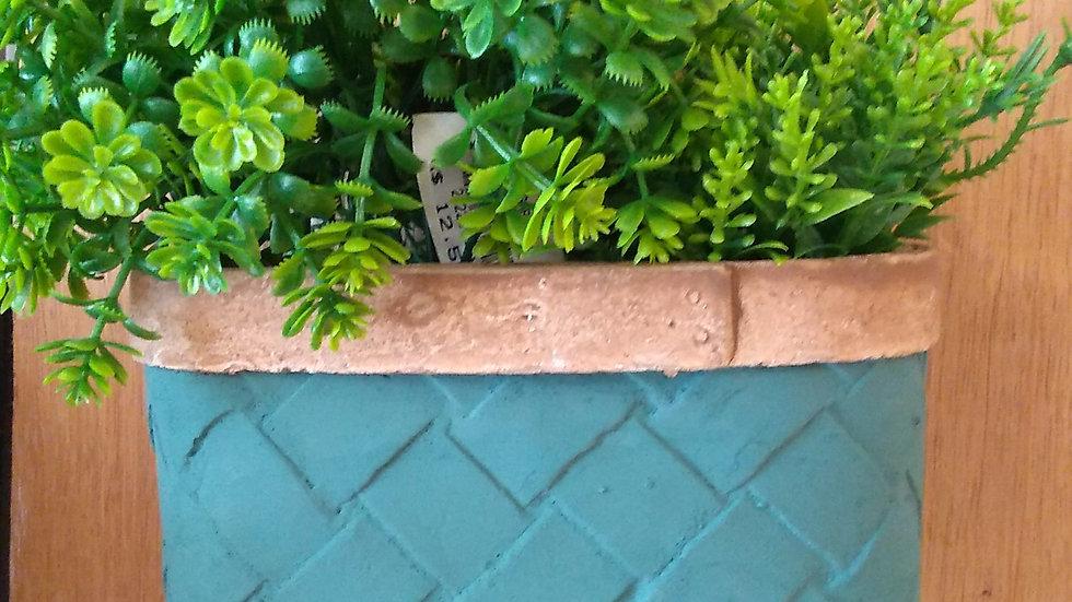 Vaso de parede verde