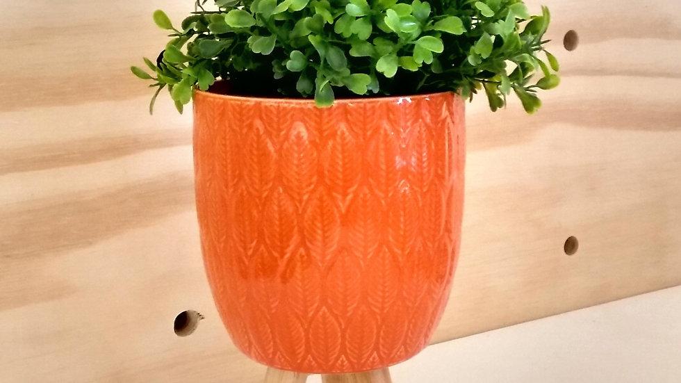 Vaso laranja arredondado