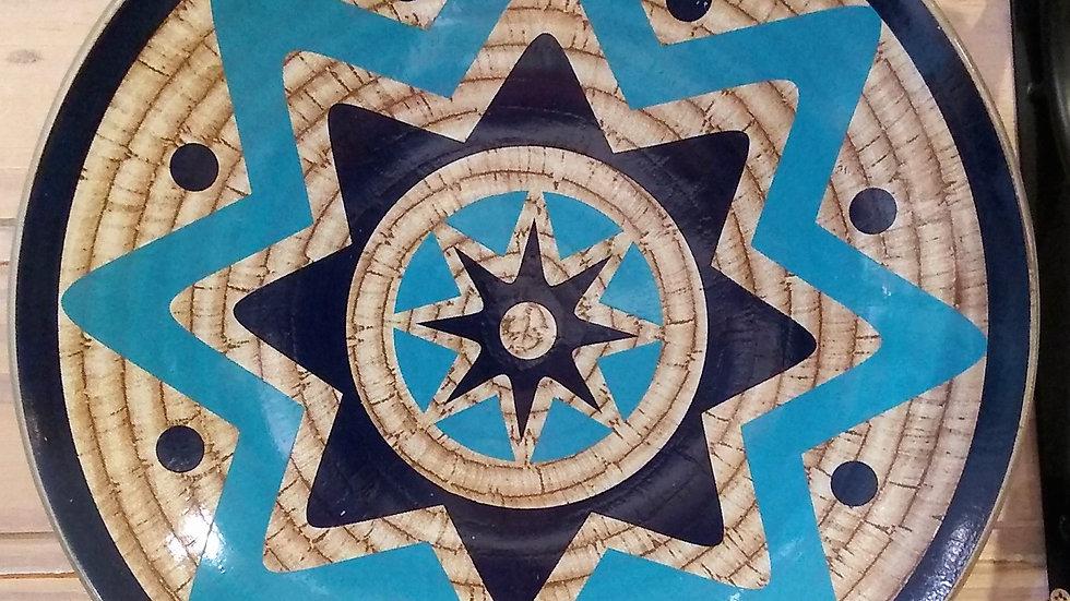 Prato decorativo azul