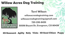 link to Terri Wilson, Willow Acres Dog Training