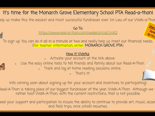 Help Monarch Grove Raise Money with Our Read-A-Thon!!