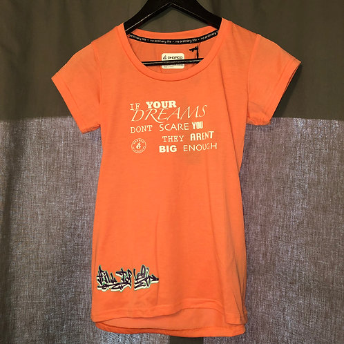 DHarCo Women's Tech-Tee with Hilltop MTB Logo