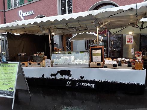 Verkaufsstand Biohof Grossegg
