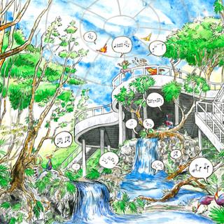 """sample illustration for the unpublished """"Mirabel Bird"""""""