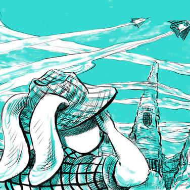 banner illustration for SEO company Hop Online