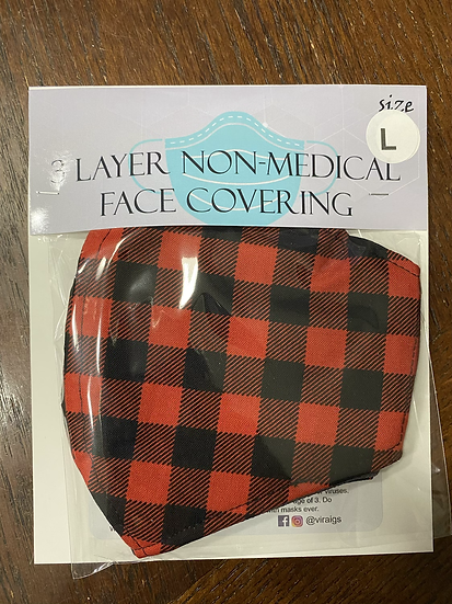 Buffalo Plaid Face Covering -Large