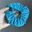 Thumbnail: Zipper Pocket Scrunchie - Teal Linen-Look
