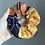 Thumbnail: Zipper Pocket Scrunchie - Navy Golden Geos