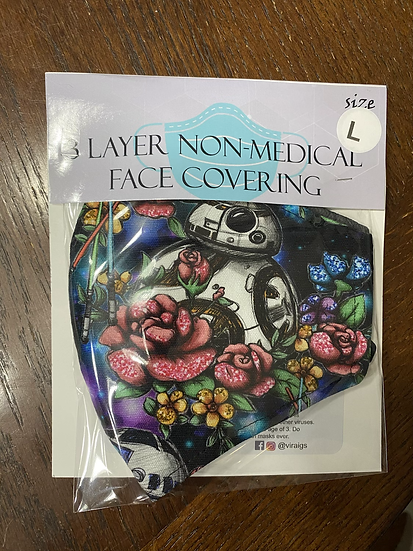 Classic Floral Wars Face Covering -Large