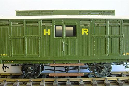 Highland Railway Valuable Cattle Wagon Dia22