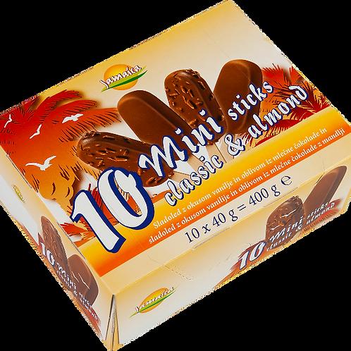 Jamaica 10 Mini Classic and Almond ice cream sticks