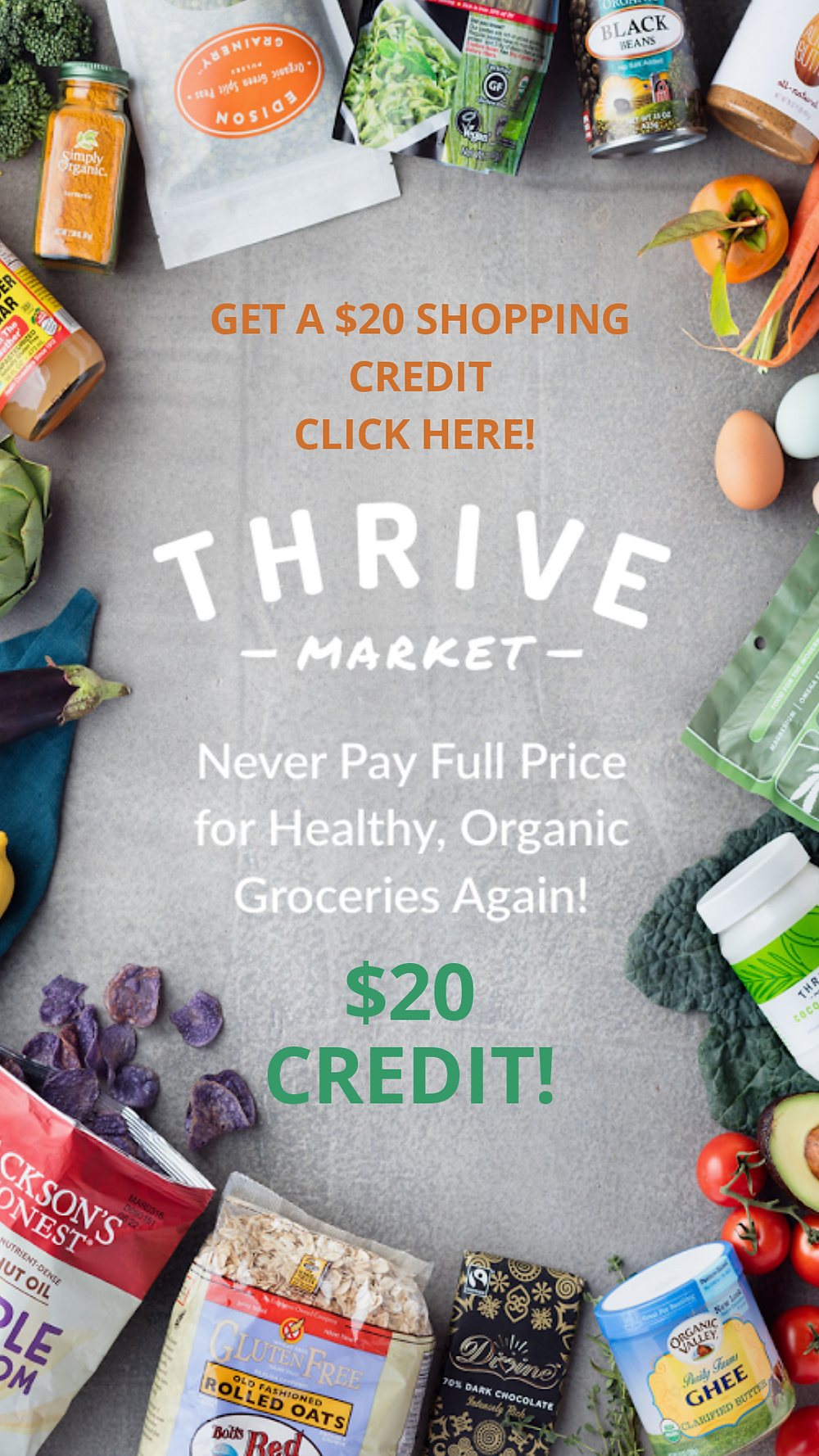 Thrive Market Organic for less!