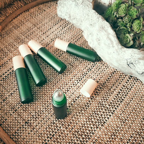 Frosted Green Roller Bottle