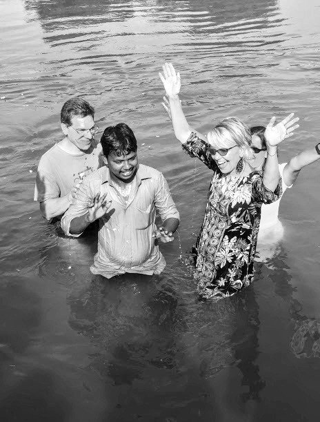 Baptizing a brother in India 2016
