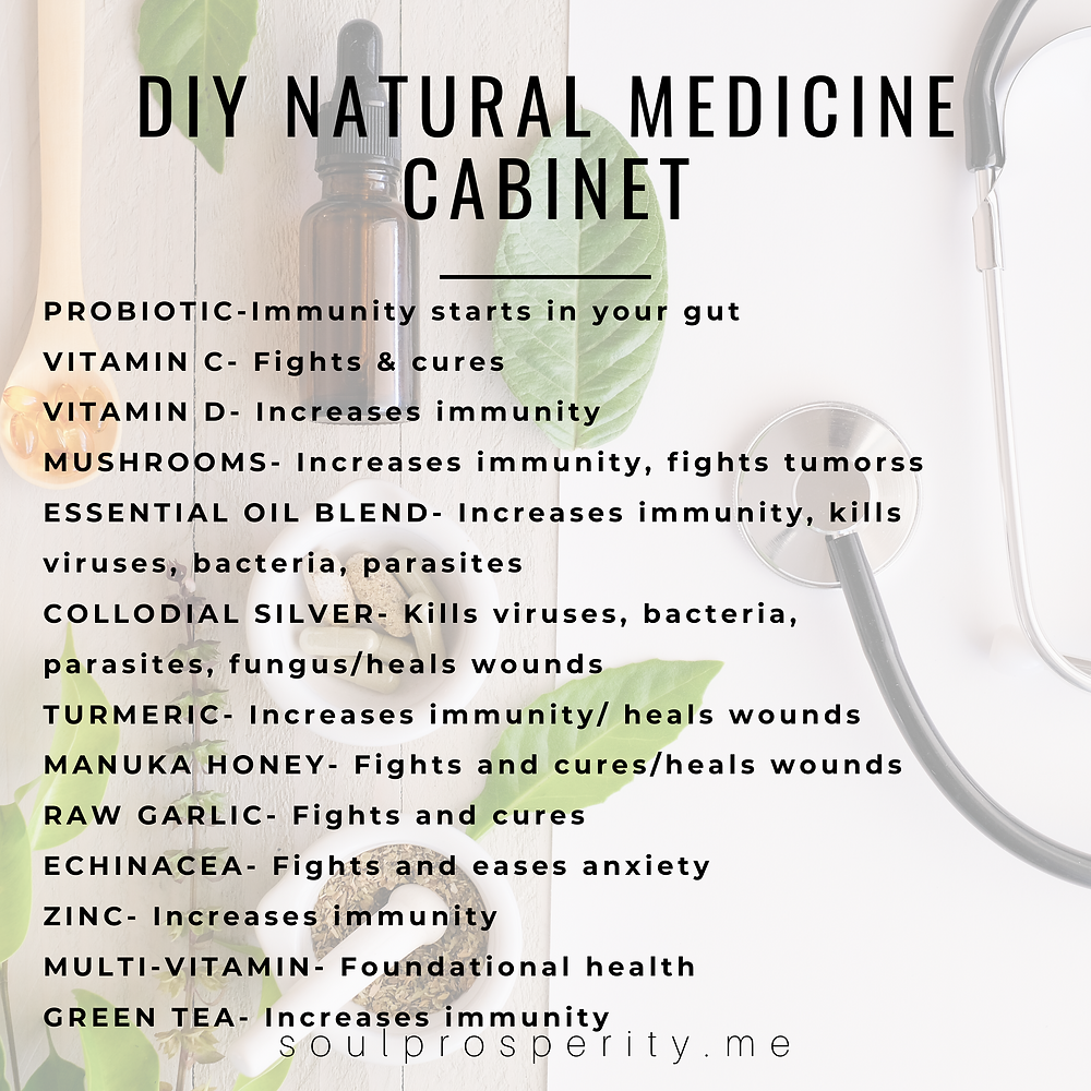 A quick list for building your own natural medicine cabinet