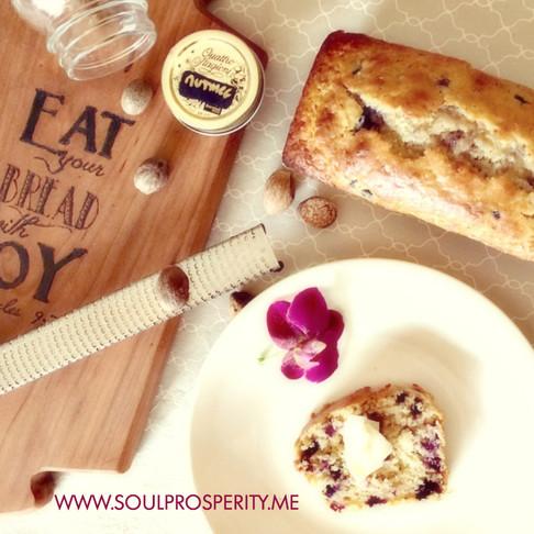 Beautiful, Bountiful Einkorn Blueberry Bread
