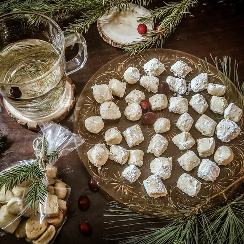 Pine Tree Shortbread (Kisses) & Fir Tree Tea
