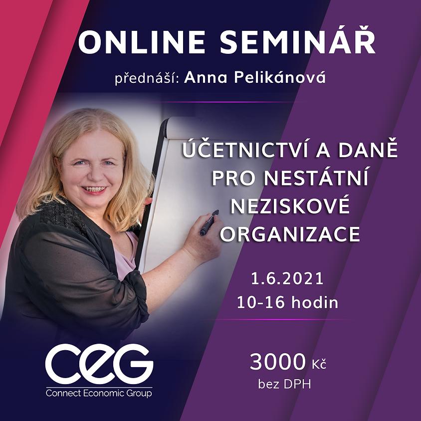 Online seminář: Účetnictví a daně pro nestátní neziskové organizace