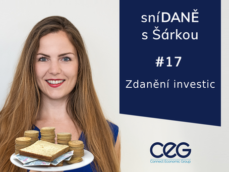 Podcast SníDANĚ s Šárkou: Zdanění investic - Ing. Tomáš Navrátil