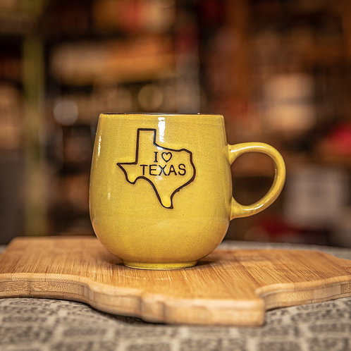 I Heart Texas Mug - Yellow