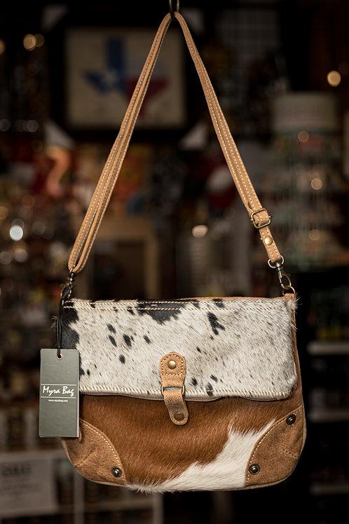 Black and White Flap Hairon Crossbody Bag