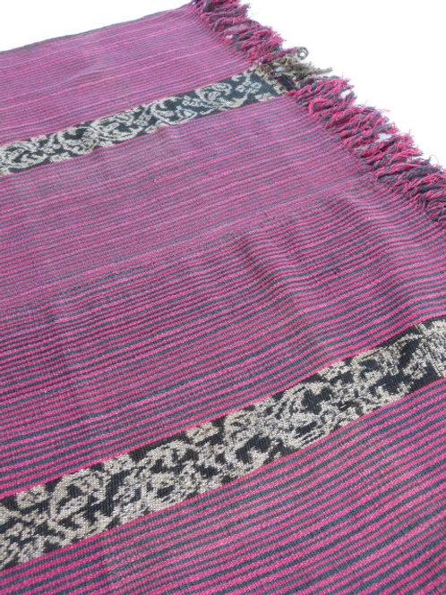 Handspun & Handwoven Pink Tais, Timor-Leste 185cm